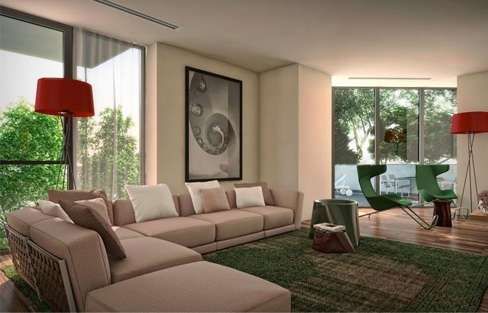 Interior design of Bosco Verticale