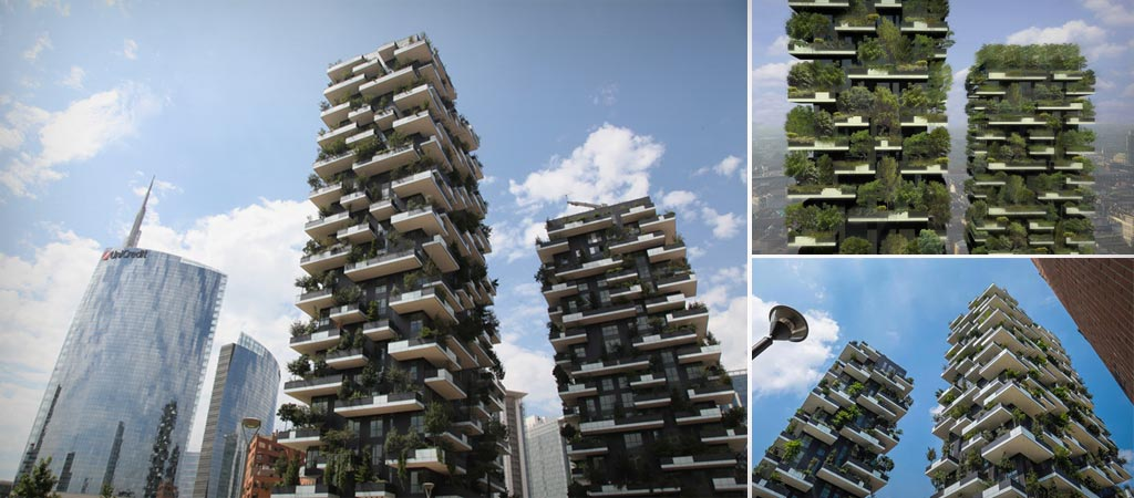Bosco Verticale Buildings In Milan Italy