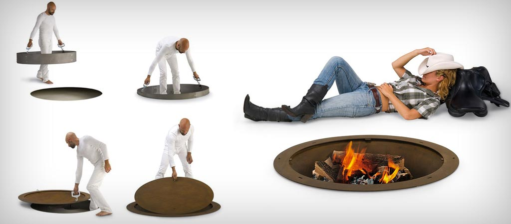 Hole Fire Pit by AK47 Design