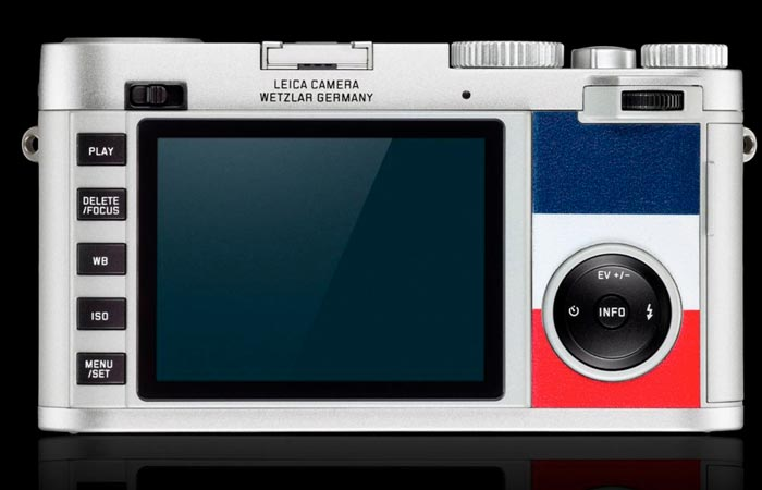 Leica X Edition Moncler display screen