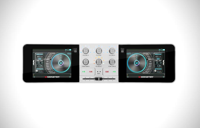 Monster GO DJ mixer and turntable