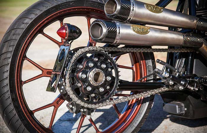 Roland Sands Custom Indian Track Chief exhaust