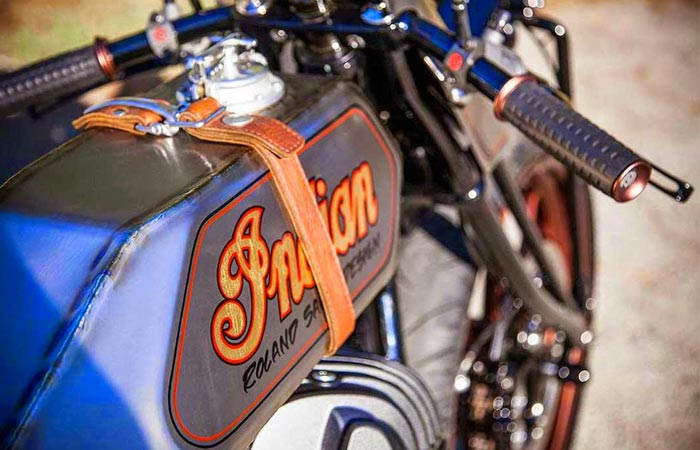 Roland Sands Custom Indian Track Chief gas tank and gas tank cap