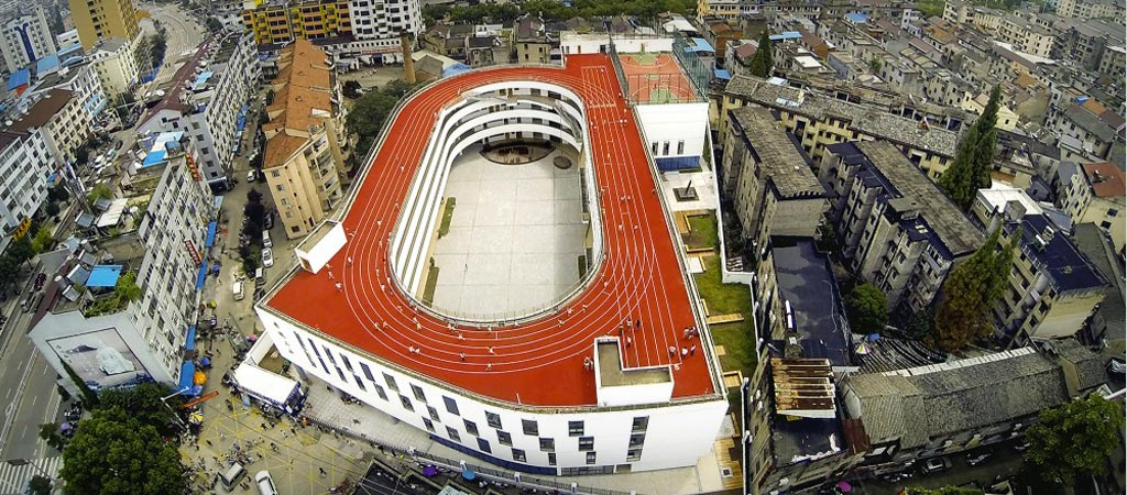 Tian Tai No.2 primary school by Lycs Architects