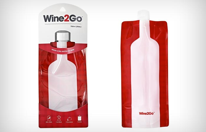 Wine2Go foldable wine bottle