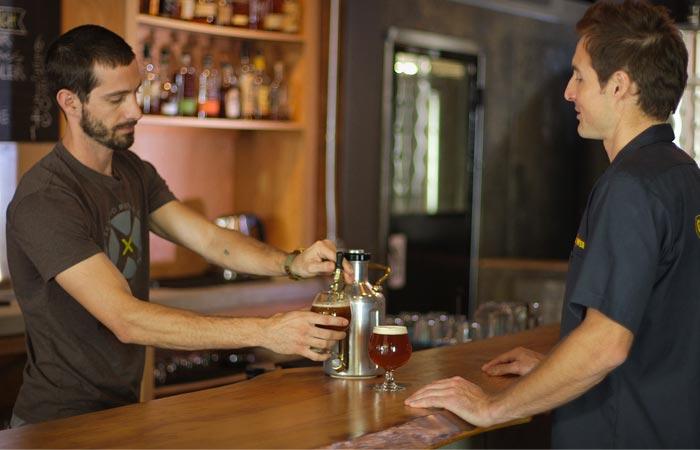 uKeg Beer Growler at the bar