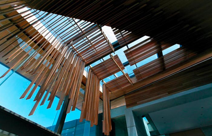 Ceiling at the Cove 3 House by Saota Architects