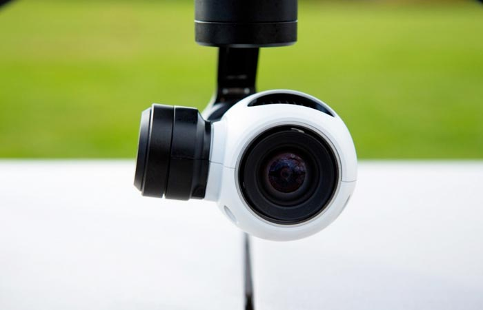 Built in camera of the DJI Inspire 1 quadcopter