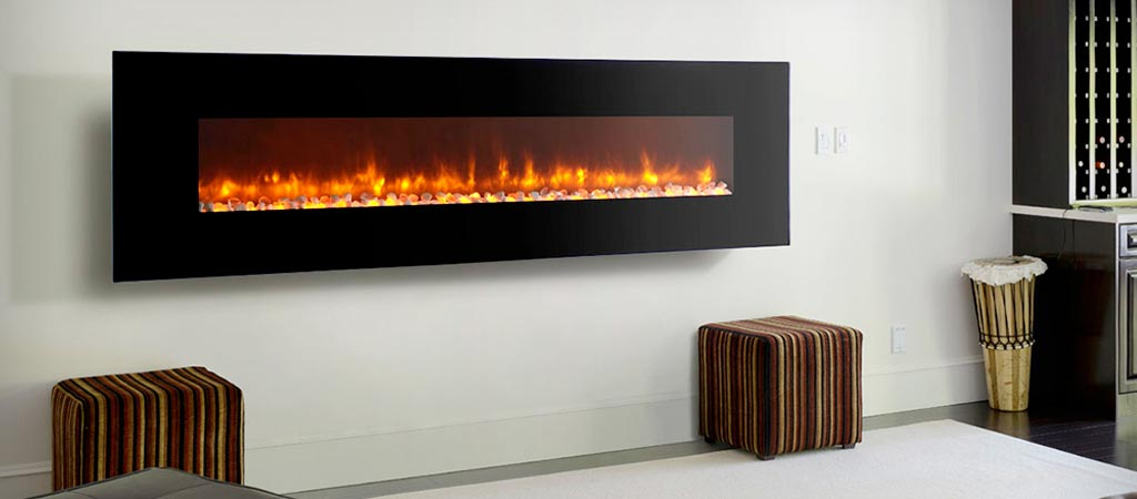 LED Electric Fireplace by Dynasty - LED WALL MOUNTED ELECTRIC FIREPLACES BY DYNASTY