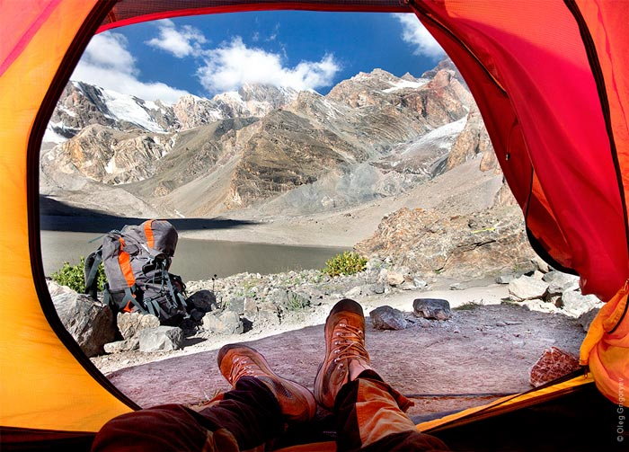 View from the tent by Oleg Grigoryev