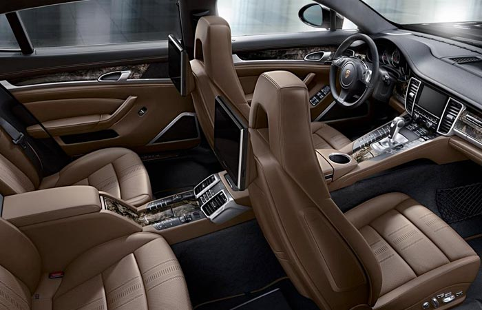 Interior of the Porsche Panamera Exclusive Series