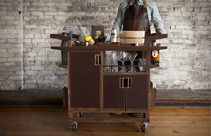 The Sidecar drinks cabinet by Moore & Giles