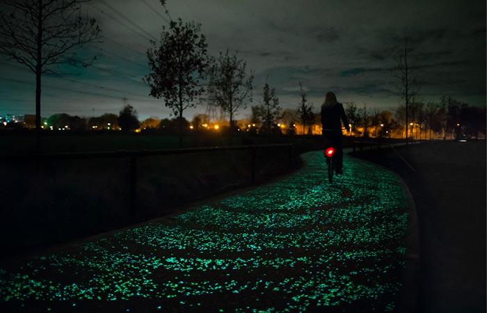 Van Gogh Roosegaarde Bicycle Path in The Netherlands
