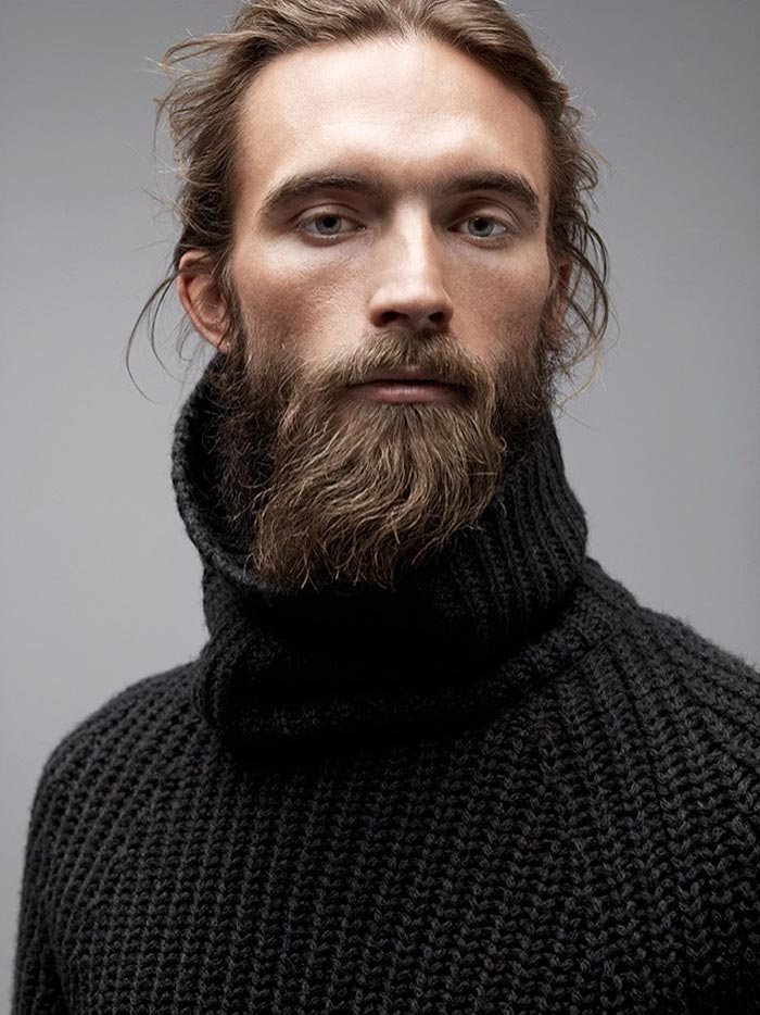 bearded blond man