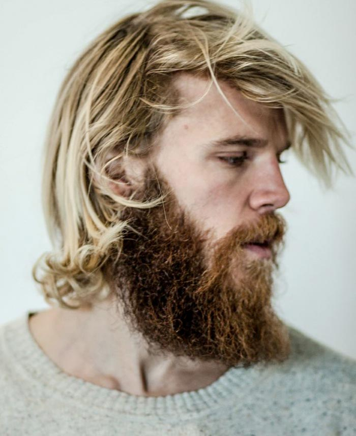 blond bearded guy with long hair