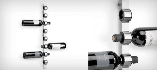 BLOMUS WALL-MOUNTED WINE BOTTLE HOLDER