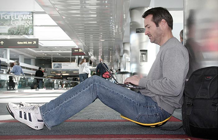 Portable seat that is good for your back and posture