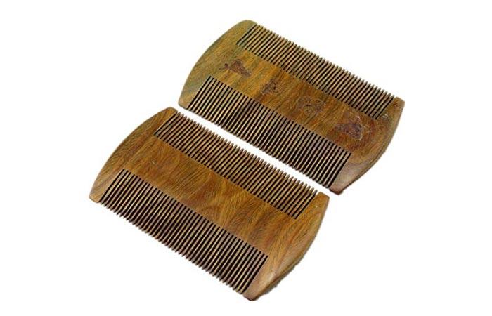 EQLEF Sandalwood Beard Combs