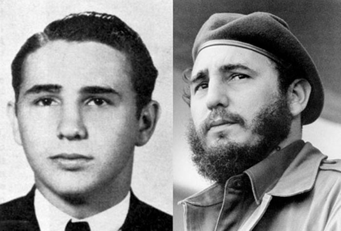 Fidel Castro without a beard