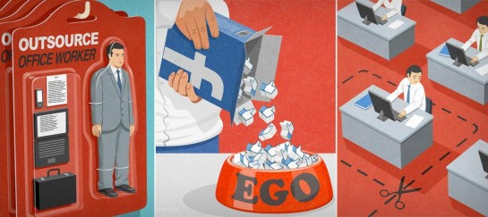SATIRICAL ILLUSTRATIONS | BY JOHN HOLCROFT