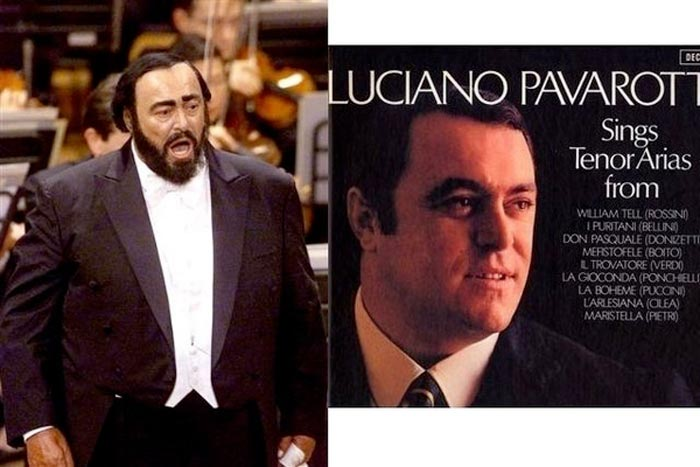 Luciano Pavarotti without a beard