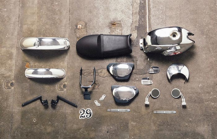 Moto Guzzi V7 custom kit chrome package