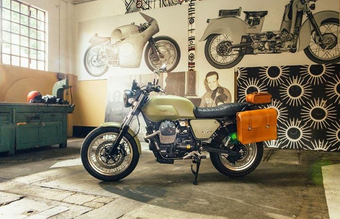 Moto Guzzi V7 custom kit in green