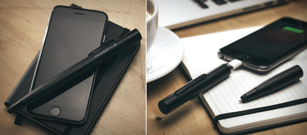 Power Pen battery charger and stylus pen