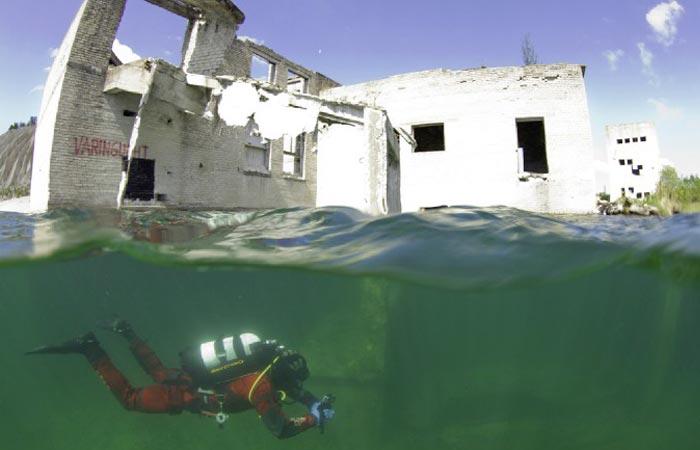 Tour of Rummu underwater prison in Estonia