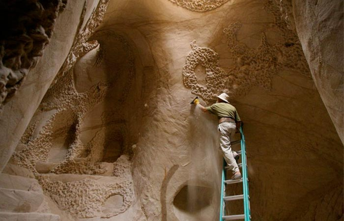Ra Paulette working in his cave