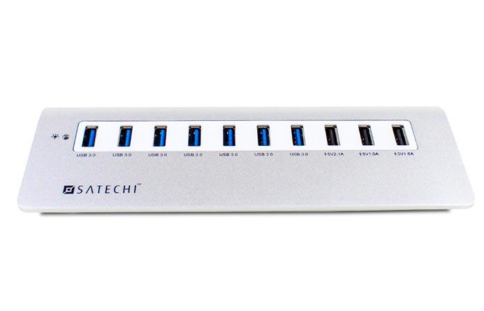 Satechi 10 Port USB 3.0 aluminium hub