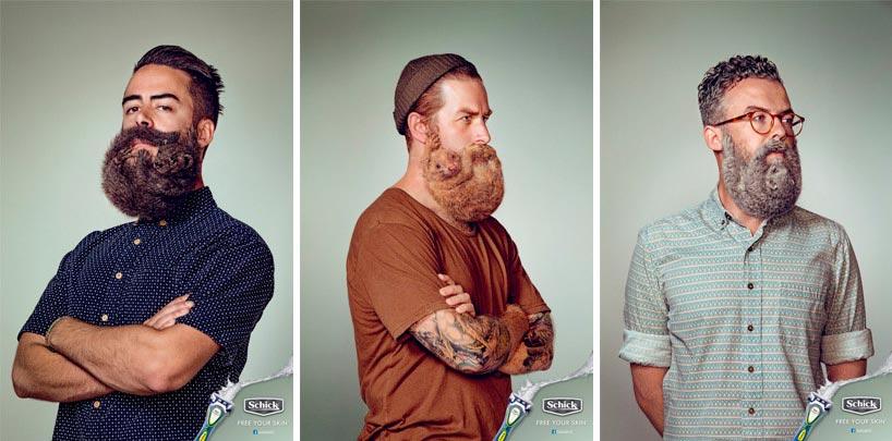 Animals in beards