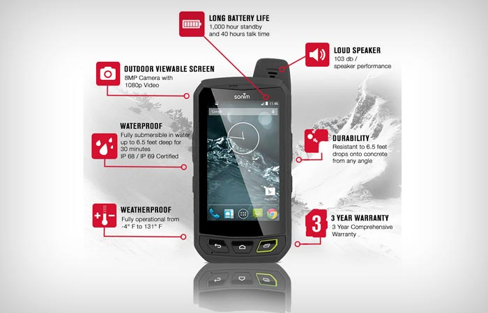 Sonim XP7 features and specs