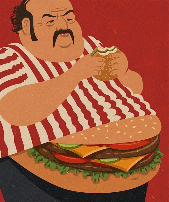 Hamburger belly
