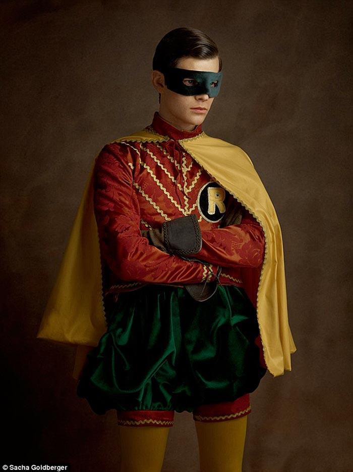 Robin in a Flemish costume