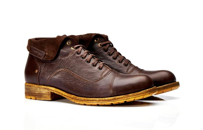 Brown Umberto Luce ankle boots
