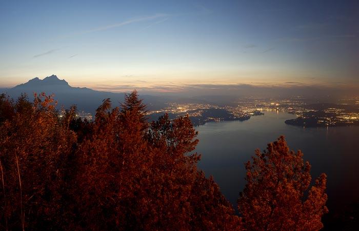 Villa Honegg and Lake Lucerne