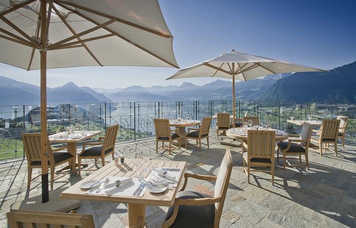 Terrace at Villa Honegg