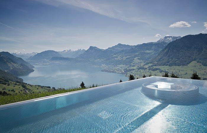 Swimming pool at Villa Honegg