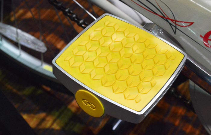 Smart bike pedal at the CES 2015