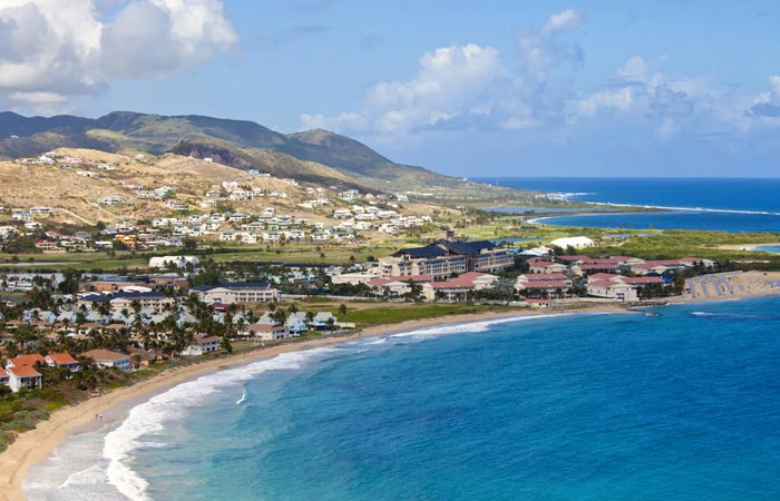 Aerial view of St-Kitts