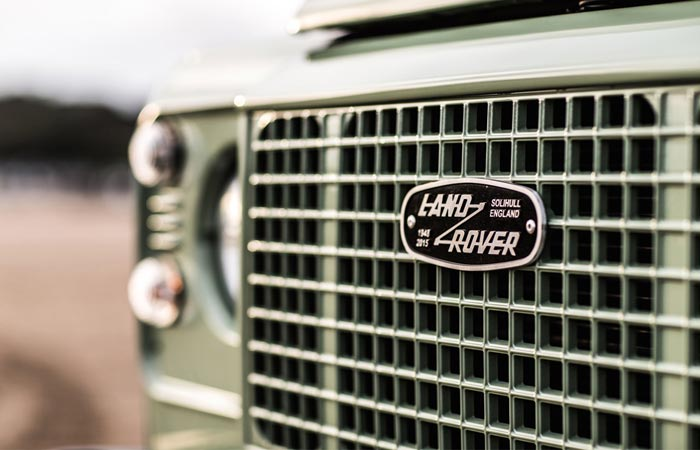 Grille on the Heritage Land Rover Defender