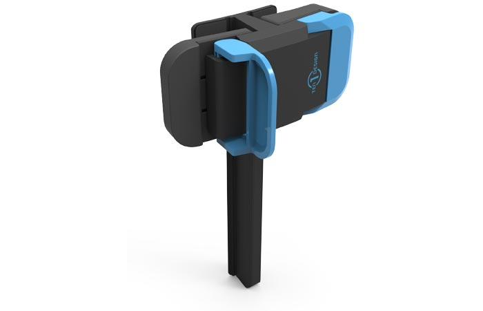 Clip to attach tablet or smarphone to screen