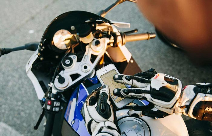 Nanotips touch sreen motorcycle gloves