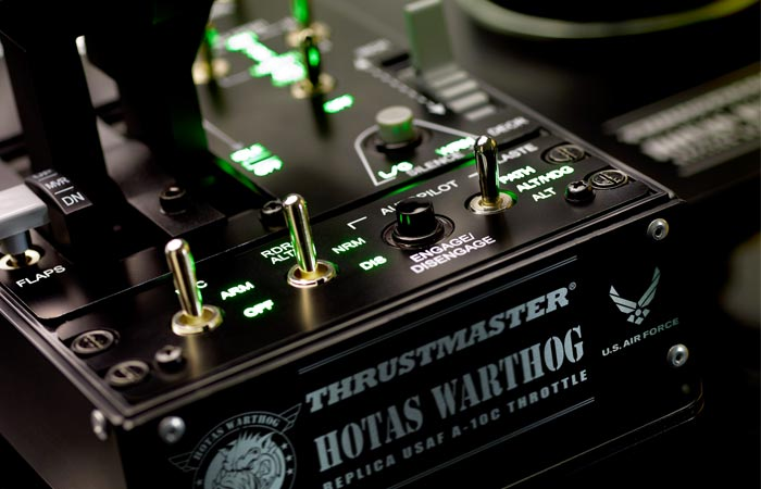 Thrustmaster Hotas Warthog joystick controls