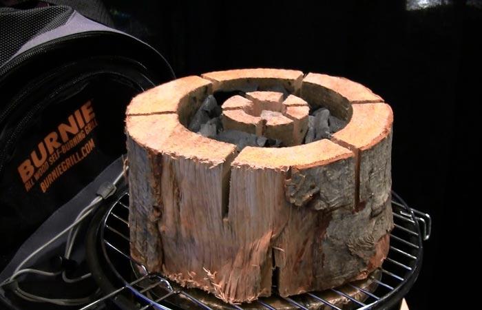 Burnie campfire log