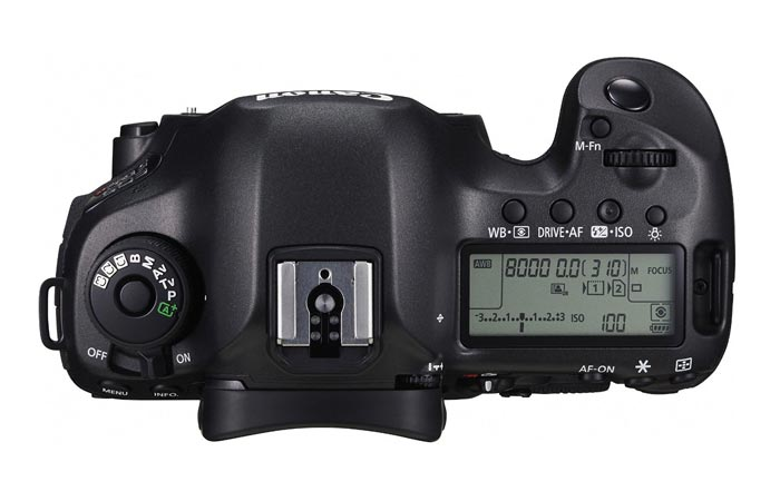 Canon EOS 5DS screen and buttons