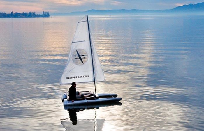 Klepper Backyak sailboat