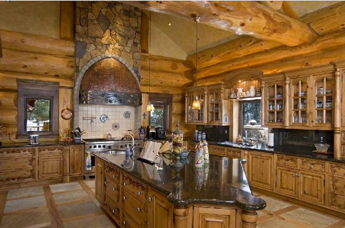 Loveland cabins most epic log homes there are jebiga for Log home kitchen designs