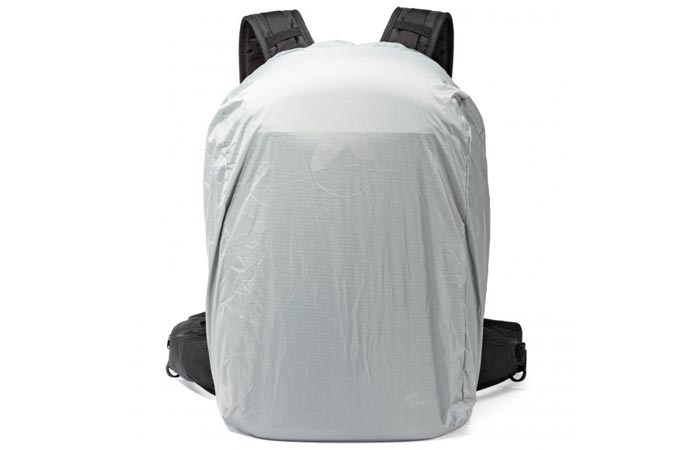 Waterproof cover of the Lowepro Pro Tactic 450 AW camera backpack
